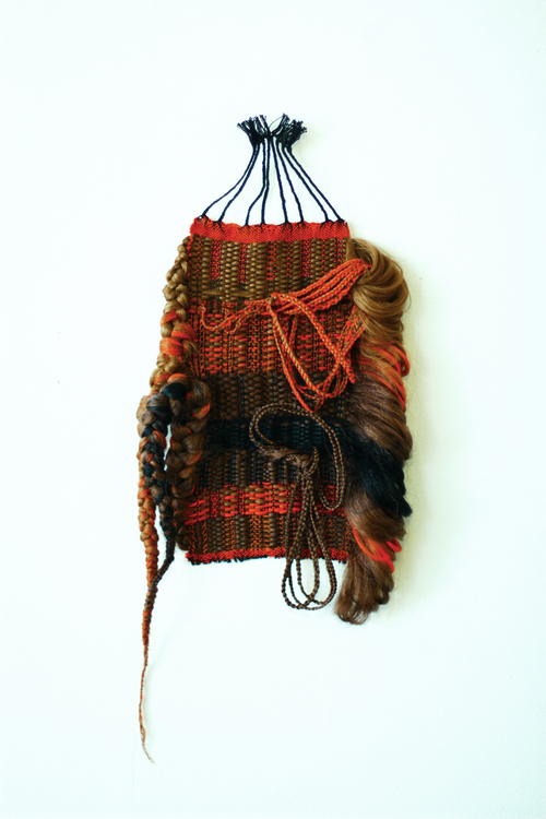 Shenequa A. Brooks, Squa-Plaits, 25 by 10 in, 2014, cotton & synthetic hair